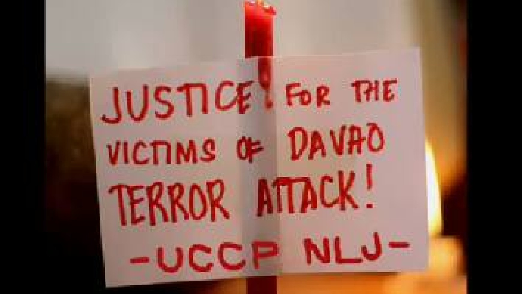 STATEMENT OF THE UCCP-NORTH LUZON JURISDICTION ON DAVAO CITY BOMBING